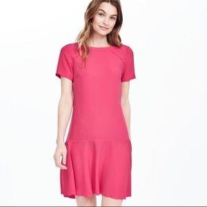 BR Pink Short Sleeve Flutter Dress Size 14